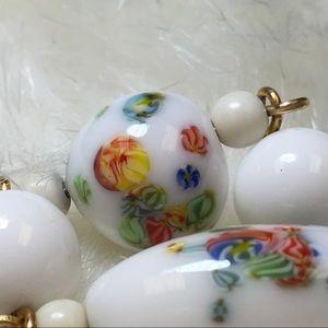 Vintage Jewelry - Vintage Art Glass Beaded Necklace